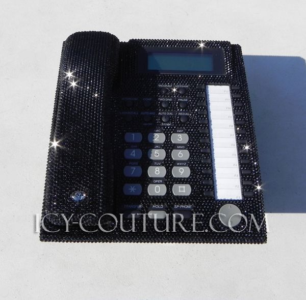 ICY Couture Swarovski Crystal Home Office Phone made for KIM KARDASHIAN. Bling YOUR Desk Phone!