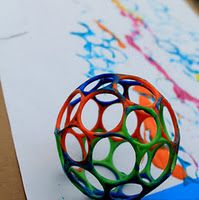 Painting with a sensory ball
