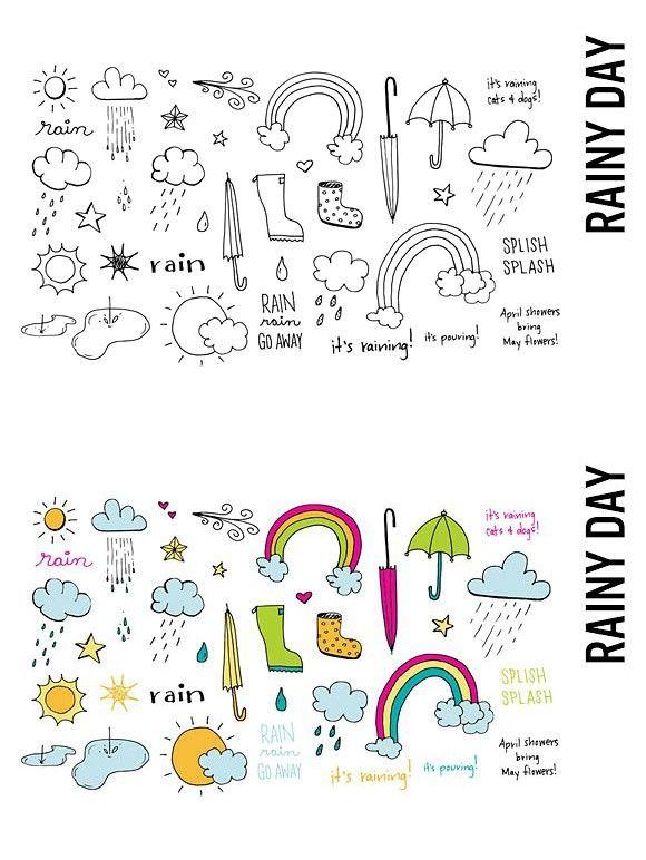 Rainy Day Doodle Illustrations Doodle Illustration Rainy Day Drawing Rainy Day Images