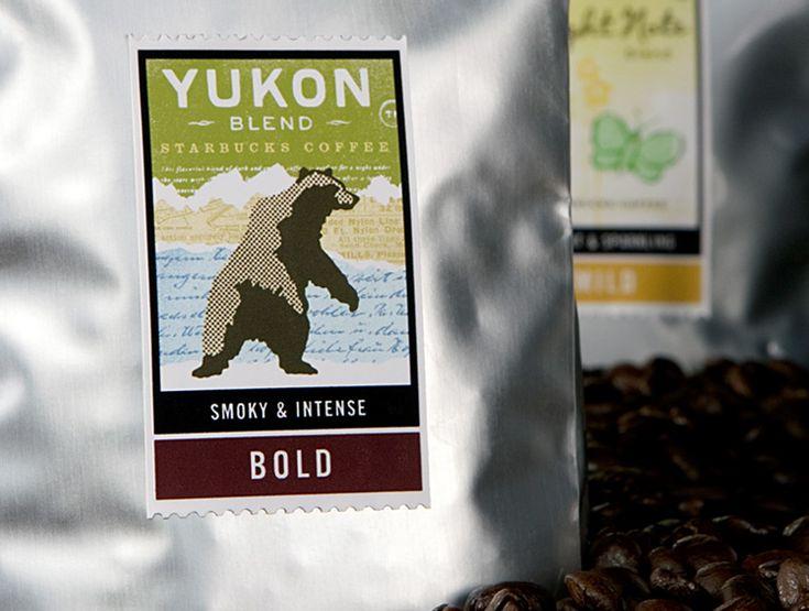 Starbucks packaging Yukon stamp design