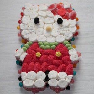 Original torta de gominolas de Hello Kitty