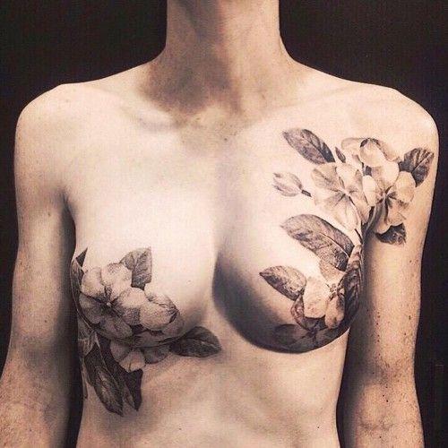Υπέροχα τατουάζ στο στήθος γυναικών που έχουν υποστεί μαστεκτομή