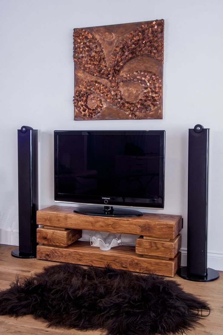 Home shop live tv stands chunky stretch tv stand - This Chunky Oak Tv Stand Has Been Crafted In England From Air Dried Oak