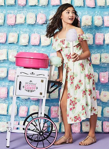 8107d9663e9 Girls 7-16 Floral Ruffle Maxi Romper - 1619038340180
