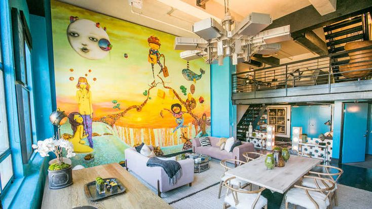Bold Hues Rule in Johnny Depp's Just-Sold Penthouse  on domino.com
