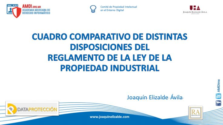 CUADRO COMPARATIVO DE DISTINTAS DISPOSICIONES DEL  REGLAMENTO DE LA LEY DE LA PROPIEDAD INDUSTRIAL