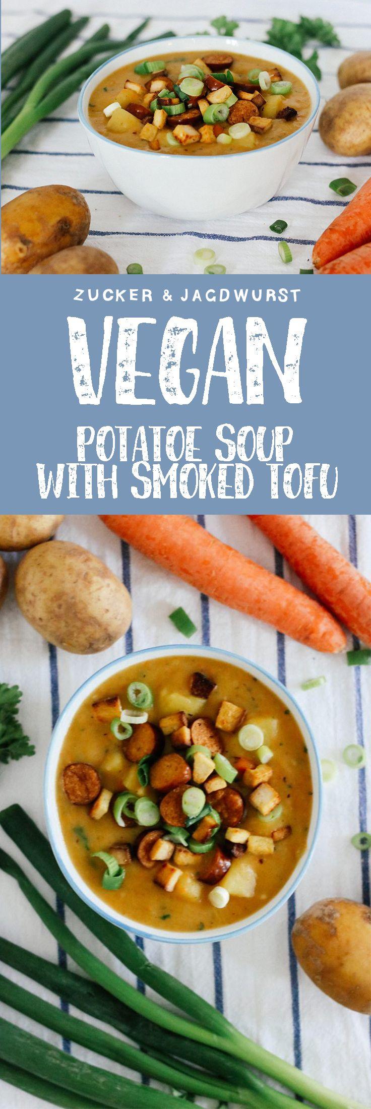 Vegan Potato Soup with smoked tofu and vegan sausages (so german!) (Crockpot Recipes Vegetarian)