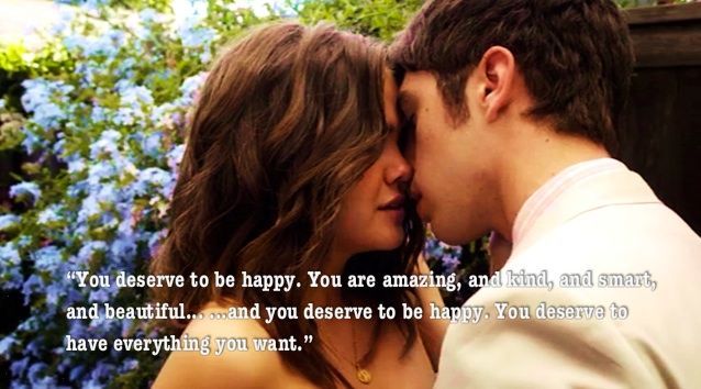 """""""You deserve to be happy. You are amazing, and kind, and smart, and beautiful...and you deserve to be happy. You deserve to have everything you want."""" love Callie and Brandon in this quote in The Fosters"""