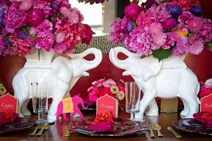 Décoration de table thème Bollywood.