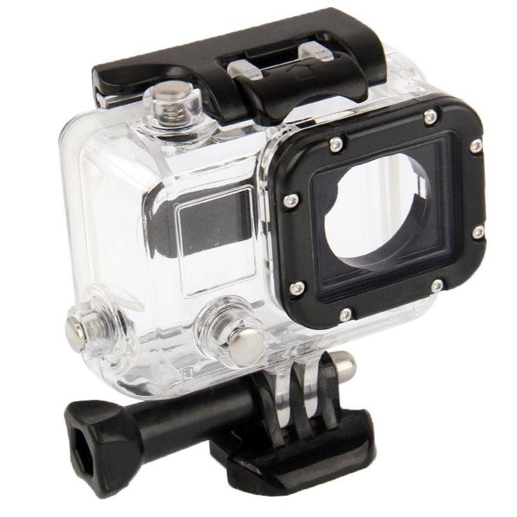 Behuizing Waterdichte beschermings hoes / case voor GoPro HERO 3 Camera (Zwart  Transparant)  Waterdichte behuizing beschermings hoes voor de GoPro Hero 3. Ideaal tijdens duiken.  1) Materiaal: Gehard PVC  dubbellaags gehard glas  roestvrij stalen schroef 2) Alleen compatibel met Gopro Hero 3 camera 3) Functies: - Goed doorzichtig materiaal voor maken van perfecte heldere foto's - Waterdicht ( let op dat alles goed is afgesloten ) - Buttons voor het makkelijk kunnen bedienen van alle…
