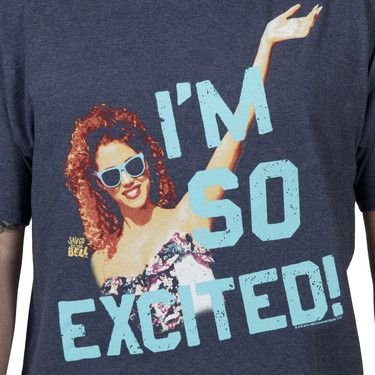 I just tried to re-enact this scene for the hubs, who has never seen Saved by the Bell - something was lost in translation and my giggles. Im So Excited... I'm so Scared!!! Jessie Spano Shirt