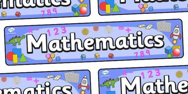 Mathematics Display Banner - Mathematics, Maths, Math, display