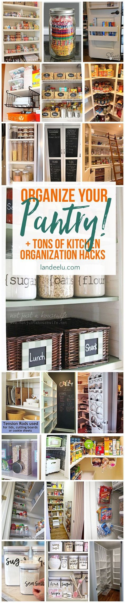 Love these ideas for kitchen organization... that pot lids one is genius!
