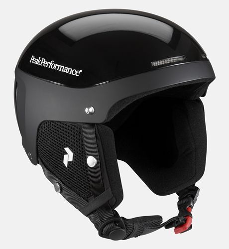 At the speeds I'll be going, I'll need some serious protection. A white or a black skiing helmet from Peak Performance.