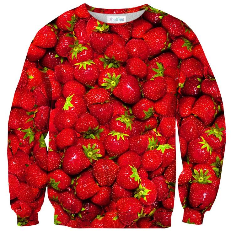 Strawberry Summers Sweater  Nothing goes together like summer and strawberries. Luckily you can have it all with this delicious-looking sweater. Everyone will be jelly of your strawberry jammin' outfit!