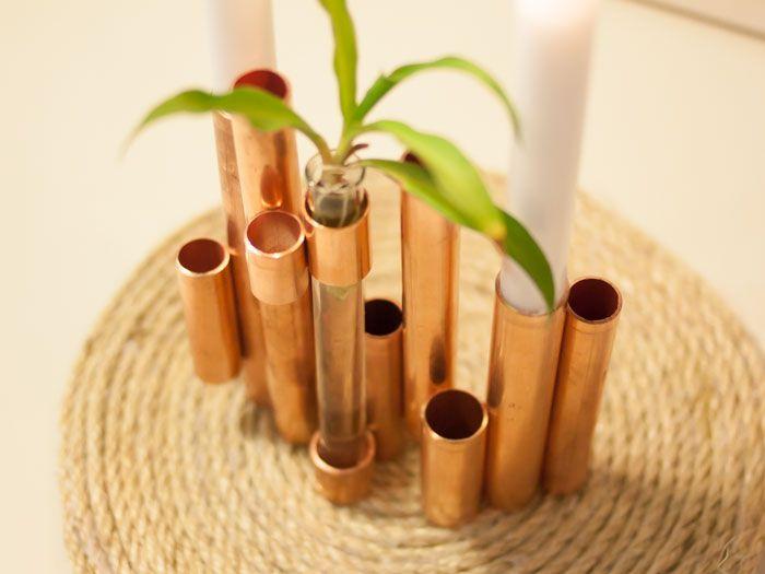 Kupfer-Kerzenständer