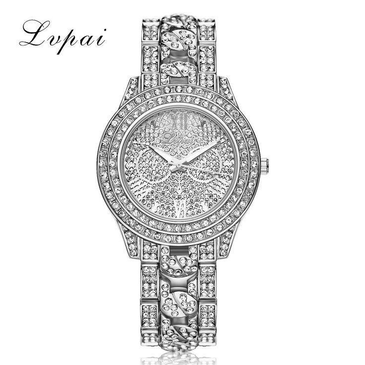 LVPAI Роскоши Алмаза Часы Женщины Модный Бренд Браслет Из Нержавеющей Стали Наручные Часы Женщин Дизайн Кварцевые Часы Часы Reloj # NI #women, #men, #hats, #watches, #belts, #fashion, #style