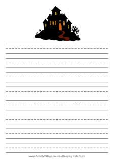 Haunted House Template | haunted house blank haunted house handwriting haunted…