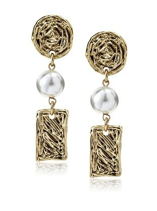 56% OFF Karine Sultan Embossed Dangle Earrings