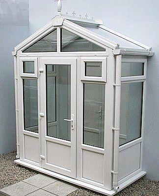 1.0m x 1.5m Gable Roof UPVC Porch
