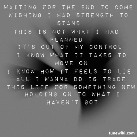 -- #LyricArt for Waiting For The End by Linkin Park