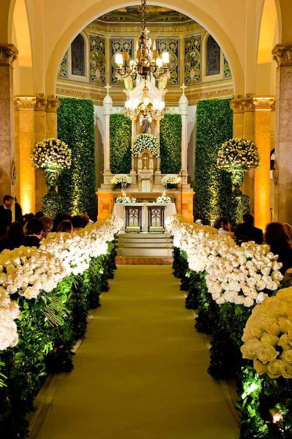 Amazing floral work at a church ceremony <3