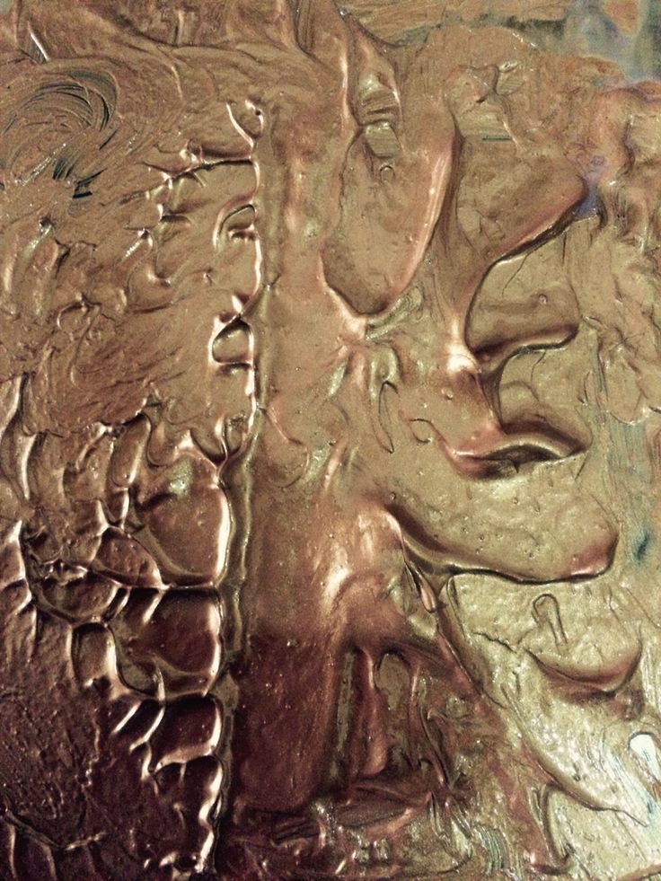 Copper acrylic texture