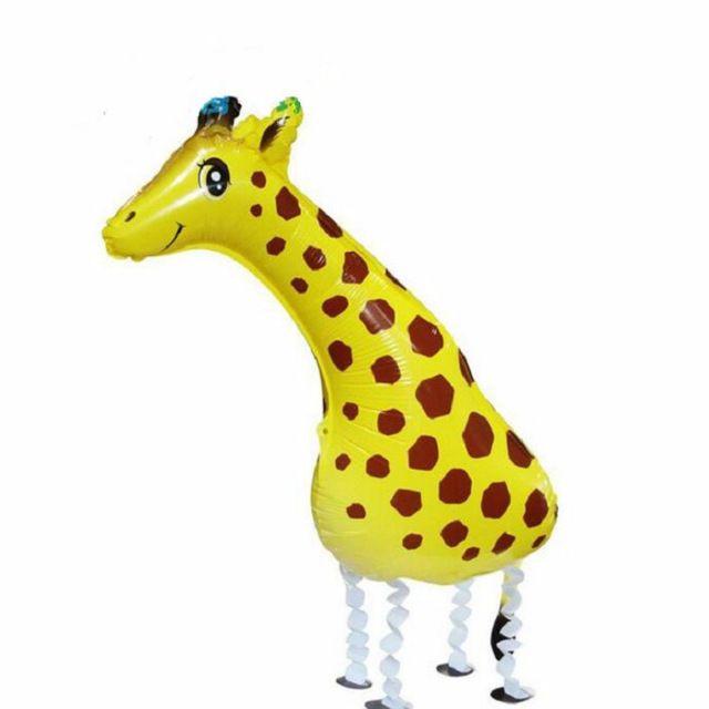 1 pz 91 * 39 centimetri 3D Un Piedi Giraffa Animali Mylar Ballon Palloncino Gonfiabile per Bambini Giocattoli per Zoo Jungle Party Baby Shower Compleanno