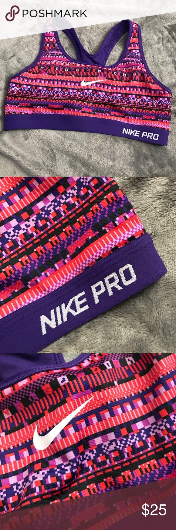 Nike Pro Dri-fit Sports Bra Nike Pro Dri-fit Aztec print sports bra. Size medium. Never worn.. too small for my boobs! 😂 perfect condition and good fit. Nike Intimates & Sleepwear Bras