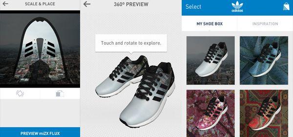 App: je eigen foto op een Adidas-schoen