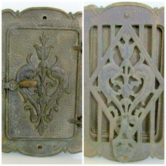 Art Nouveau Door Knocker Brass Peephole Window Door Speakeasy Steampunk Peep Hole Antique