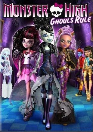 """Monster High """"Ghouls Rule"""" - DVD cover"""