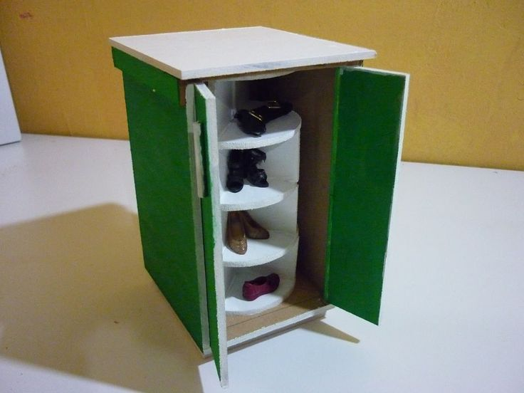 Como hacer un mueble giratorio de zapatos para mu ecas - Mueble para zapatos ...