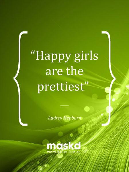 """""""Happy girls are the prettiest""""  #loveyourskin #amazing #beautiful #selfie #smile #igers #wow #awesome #acne #beauty #quote #pinterest #pinterestquotes #quotes #thegreenmask #maskd"""