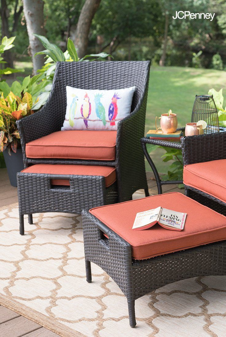 Need modern outdoor furniture for your small space meet the outdoor oasis bermuda 5 pc conversation set perfect for every small patio or veranda