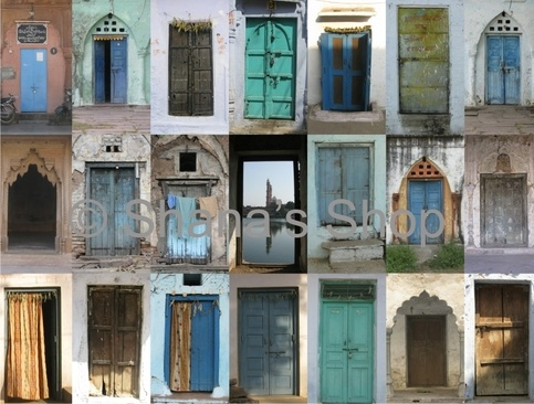 Doors of India Photo Collage for Sale at Shana's Shop on Storenvy