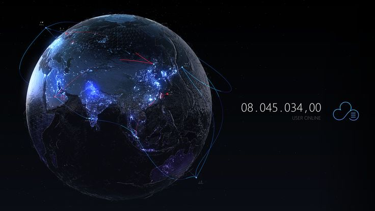 Interactive Globe for internet company Tencent on behalf of RayKITE agency China. A visual example of showing the Tencent Cloud data in realtime. Server locations on the map and the visual connection in between. Global user tracking in with future design.…