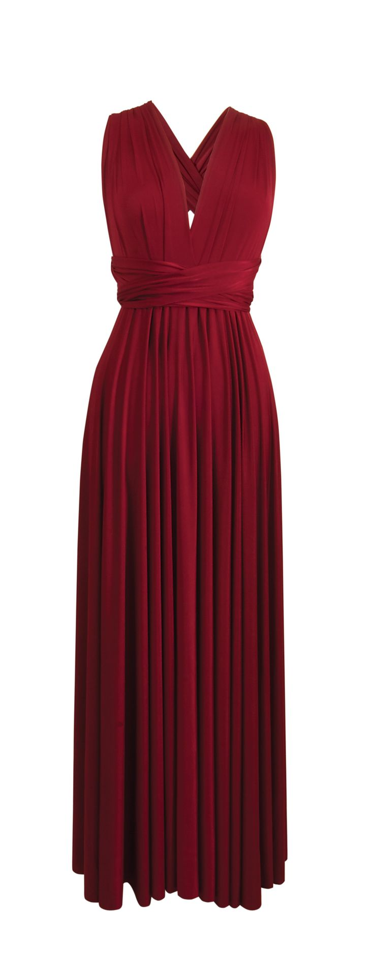 The stunning Multiway Maxi Dress in Dark Red.