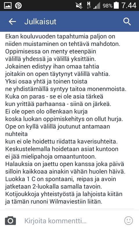 Alakoulun aarreaitasta/FB