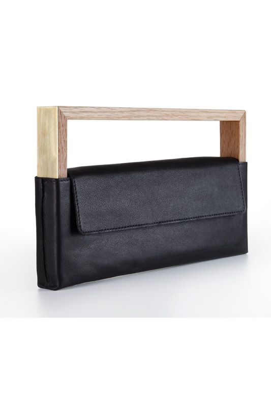 noritamy wood / leather clutch price:414.00€