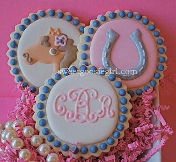 Horse Horseshoe And Monogram Decorated Sugar By