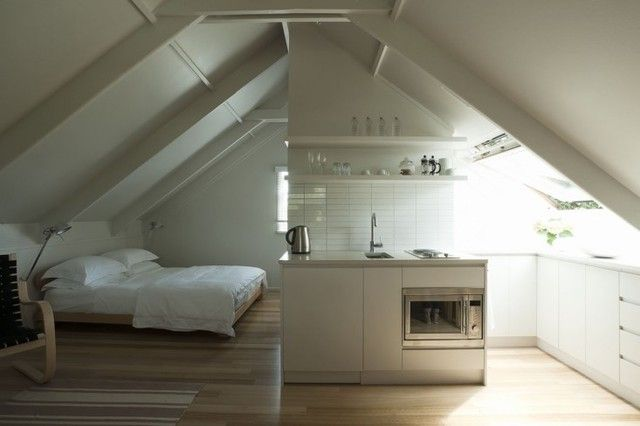 tiny attic apartment tiny living pinterest