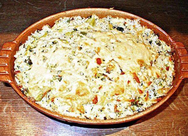 Zapékané brokolicové rizoto