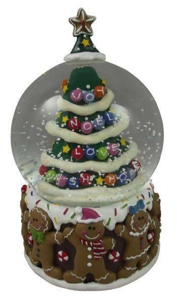 Gisela Graham Gingerbread Snowglobe - Christmas Snow globe - Ornament