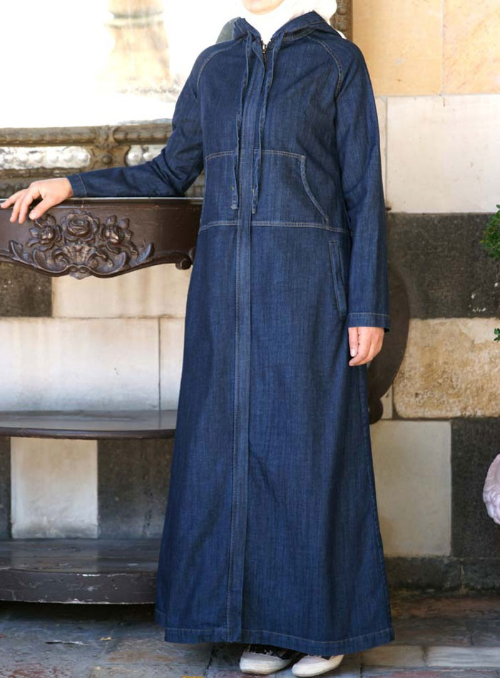 26 Best Denim Abaya Hijab Dress Images On Pinterest