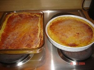 South African recipes - two milk tarts