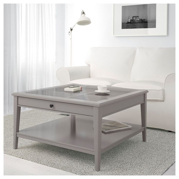 Liatorp Grey Glass Coffee Table 93x93 Cm Ikea Coffee Table Ikea Hemnes Coffee Table Coffee Table Grey