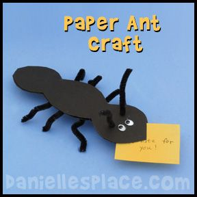 Ant Craft - Ant Paper Craft for Kids from www.daniellesplace.com