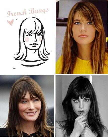 French Bangs :: Translation - eye grazing, slightly choppy perfection.