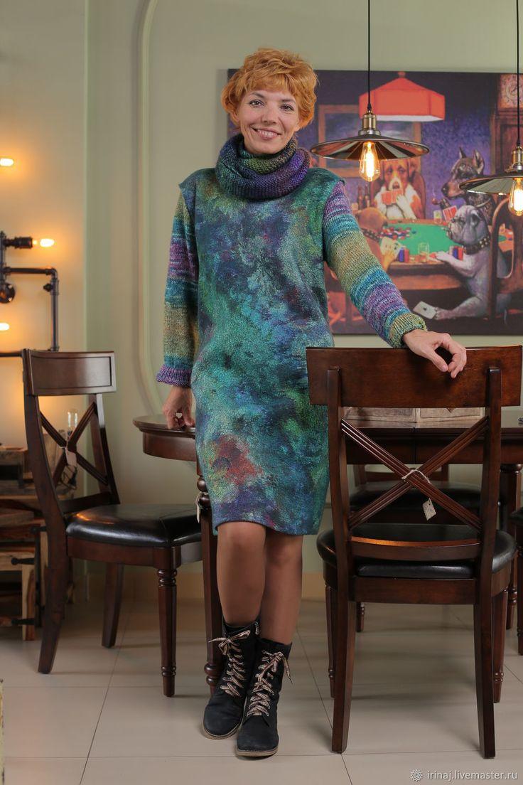"""Купить валяное платье """"Inspiration virid"""" в интернет магазине на Ярмарке Мастеров"""